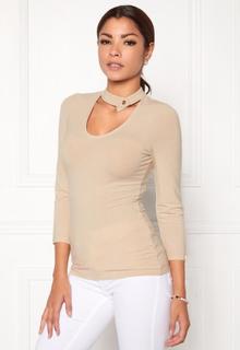 Chiara Forthi Karli Choker Top Light beige XL (EU44/46)