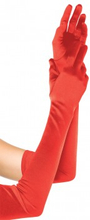 Extra Long Red Satin Gloves