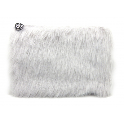 W7 Large Furry Cosmetic Bag Grey 1 stk