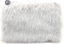 W7 Large Furry Cosmetic Bag Grey 1 stk