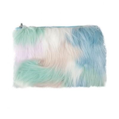 W7 Small Furry Cosmetic Bag Pastel 1 stk