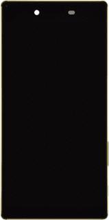 Sony Xperia Z5 Premium LCD Display med ram - Svart