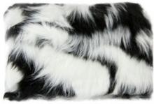 W7 Small Furry Cosmetic Bag Black & White 1 stk