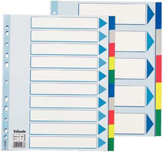 Faneblade PP A4 maxi 10delt farvede faner