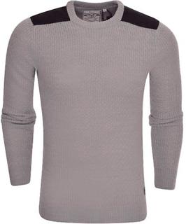 Modig själ Mens Brave Soul Crew Neck kabel stickad mode Jumper tröj...