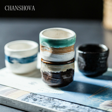 CHANSHOVA Traditional retro style Personality brief 35ml Ceramic Small wine glass Teacup China porcelain coffee tea cups H358