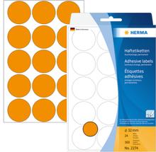 HERMA manuel etiket ø32 neon orange (360)