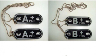 DOG TAG PATCH - AB+ positive