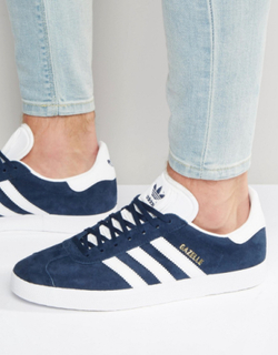 adidas Originals Gazelle Trainers In Navy BB5478 - Navy