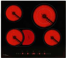 vidaXL keramisk kogeplade med 4 varmezoner touch-panel 6600 W