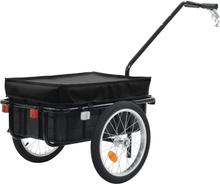 vidaXL Cykelvagn/handkärra 155x61x83 cm stål svart