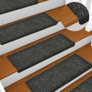 Selvklebende trappematter 10 stk 65x25 cm nålestempel - grå