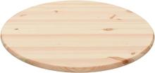 vidaXL bordplade naturligt fyrretræ rund 28 mm 80 cm