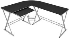 Hörnskrivbord Datorskrivbord - svart