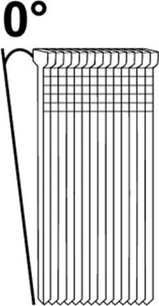 ESSVE F18 FZB Dyckert 0°, vit huvud, 3600-pack 1,2x50mm