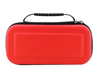 eStore Nintendo Switch väska för spelkonsol och kassetter - Röd