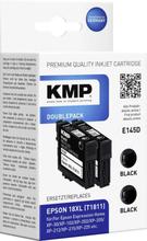 KMP Bläck Ersätter Epson T1811, 18XL Kompatibel 2-pack Svart E145D 1622,4021