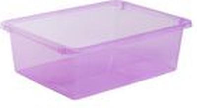 Förvaringsbox Store It 10L transp. Rosa