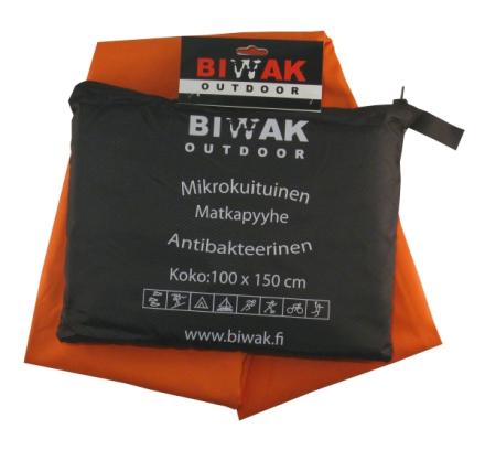 Biwak Matkapyyhe antibakteerinen, oranssi - 100 X 150 cm