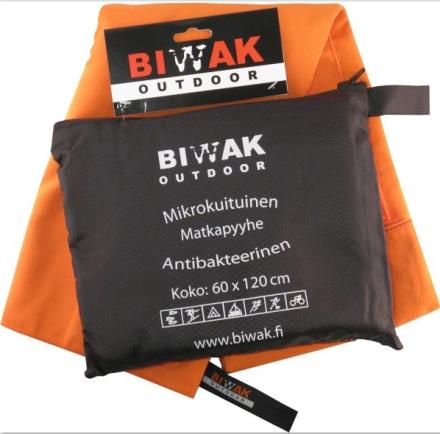 Biwak Matkapyyhe antibakteerinen, oranssi - 60 X 120 cm