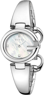 Gucci - Guccissima Dameur, Stål/Hvid, 3 Diamanter, S