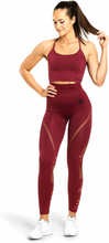 Better Bodies Waverly Tights, sangria red, xsmall Träningstights dam