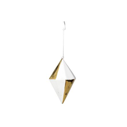 Broste Copenhagen - Asaf Dekorasjon Diamond, Hvit/Gull