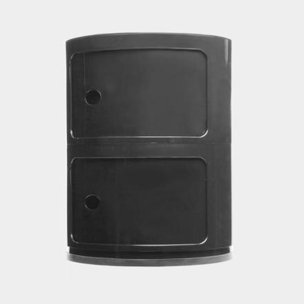 Kartell - Componibili Opbevaring 2 Rum, Sort