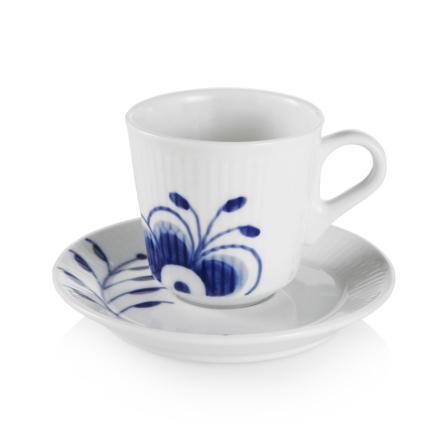 Royal Copenhagen - Blue Fluted Mega Espressokop Med Underkop