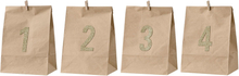 Bloomingville - Advent papirpose 4-pack, Nature