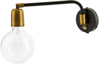 House Doctor - Molecular Væglampe 25W, Sort/Messing