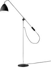 Gubi - Bestlite BL4 Standerlampe, Krom/Sort