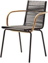Cane-line - Sidd Stol med Armlener, Brun