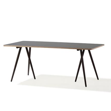 Turn Spisebord 90x180 cm, Hvit-Grå/ Brun