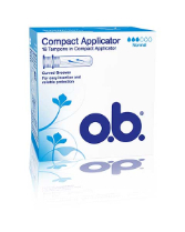 O.B. Compact Applicator Normal asetintamponi 16Kpl