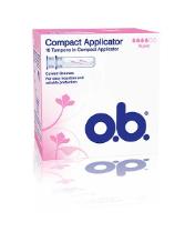 O.B. Compact Applicator Super asetintamponi 16Kpl