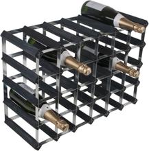 RTA Vinställ 30 flaskor svart trä