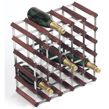 RTA Vinställ 30 flaskor (5x5) brunt trä