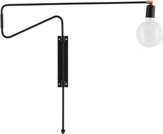 House Doctor - Swing Væglampe 70cm, Sort