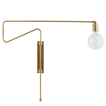 House Doctor - Swing Væglampe 70cm, Messing