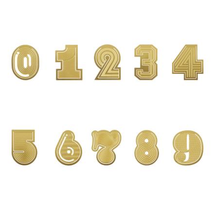 Tom Dixon - Tool Gem Numbers, Messing