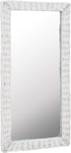 vidaXL Spegel i korgmaterial 50x100 cm vit