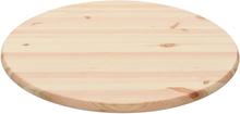 vidaXL bordplade naturligt fyrretræ rund 28 mm 70 cm