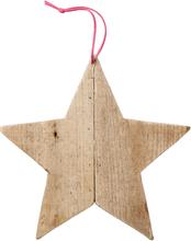 Bloomingville - Bloomingville Ornament Stjerne 24 cm, Tre