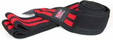 Gorilla Wear Knee Wraps, black/red, 2.5 m, Gorilla Wear Knä & Handledslindor
