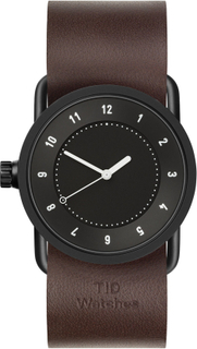 TID Watches - TID No.1 Sort Armbåndsur 33mm Walnut Skinnreim