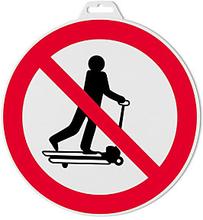Hinweischild ''Mit Hubwagen rollen verboten''