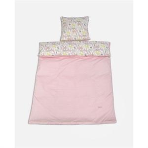 Junior sengetøj med dyr, rosa, Smallstuff - Babytorvet.dk