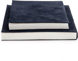 Nordstjerne - Suede Notesbog Medium, Blå