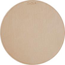 OYOY - Leather Musematte, Beige